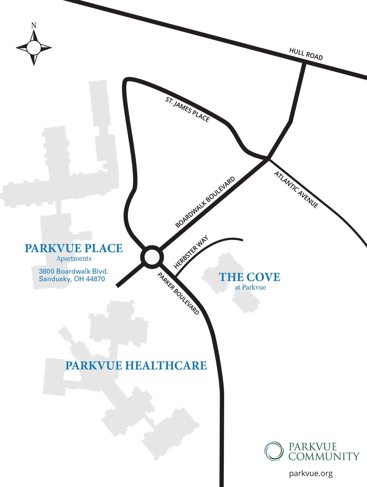 Map of Parkvue Community Campus
